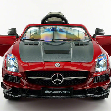 MERCEDES BENZ SLS  RIDE-ON TOY CAR WITH PARENTAL REMOTE MP4   CHERRY