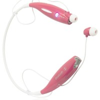 Bastex Bluetooth 4.0 Wireless Headset Hands-Free Neckband Sports Stereo Universal Headphone with Microphone for Smartphones and Other Bluetooth Devices [Baby Pink and White]
