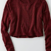 AEO Women's Feather Light Cropped Sweater