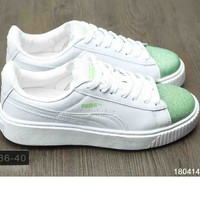 PUMA Women Laser Flat Sneakers Casual Shoes B-A-XIONGDI-UPING Green
