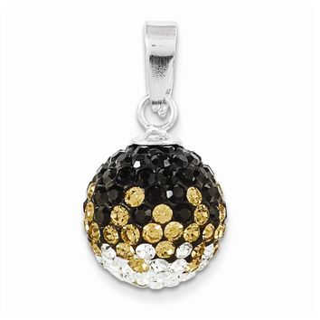 Sterling Silver Swarovski Elements Columbia Spirit Ball Pendant
