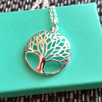 Tree Of Life Necklace, Sterling Silver Tree Of Life, 925 Necklace, Gift For Nature Lovers, Spiritual Gift, Wicken Necklace, Wicken Jewellery