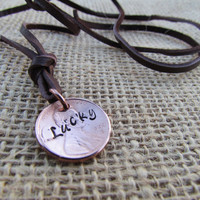 Necklace or Wrap Bracelet Lucky Penny Coin by AlwaysAMemory