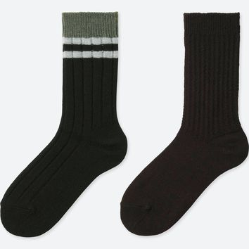WOMEN HEATTECH RIBBED SOCKS (2 PAIRS)