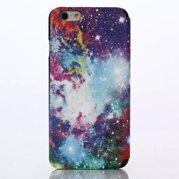 Galaxy Leather Case Cover for iPhone 6S 6 Plus Samsung Galaxy S6-170928