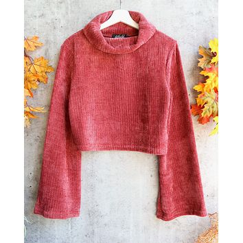 MINKPINK - whole hearted chenille sweater - masala