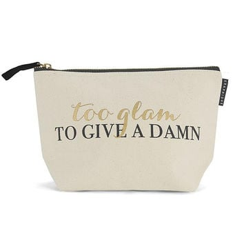 Too Glam To Give A Damn Zipper Pouch