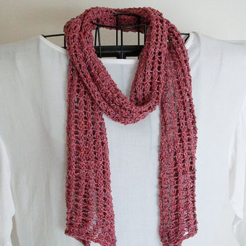 Easy Knitting Pattern Lace Mesh Scarf PDF Loki's Net Boho Romantic