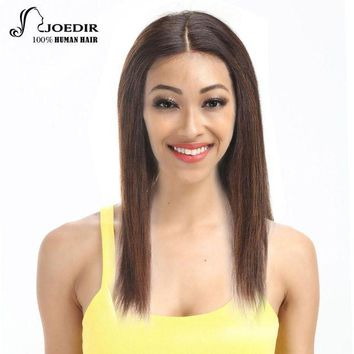 ONETOW Joedir Lace Front Human Hair Wigs Brazilian Straight Hair Remy Wigs For Black Women 16 Colors Choice Free Shipping
