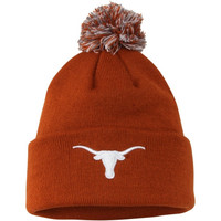 Texas Longhorns Top of the World Simple Knit w/ Pom Beanie – Burnt Orange