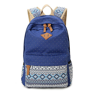 Korean style women bookbags canvas printing backpack bags school backpacks for teenage girls mochila escolar feminina BAOK-fc76