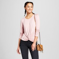 Women's Long Sleeve Twist Front T-Shirt - Mossimo Supply Co.™