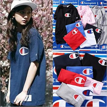 Champion spring and summer youth tide brand T shirt men and women lovers