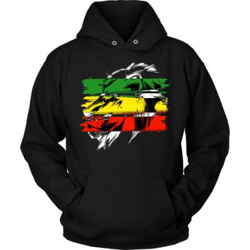 Jamaican Flag Lion Of Judah Rasta Reggae Roots Hoodie