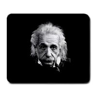 Albert Einstein Genius on Black Large Mousepad