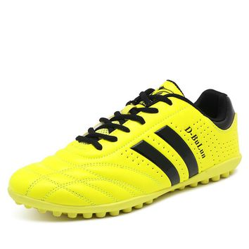 Soccer Shoes Man Football Boots Leather Kids Boots Football Cleats Red Soccer Cleats  Men Sport Trainers Tf Shoes