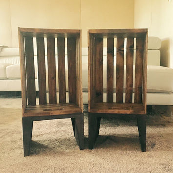 Americana Crate side Table