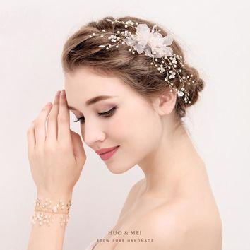 New Handmade Crystal Rhinestone Elegant Brides Girls Hairpins Wedding Barrettes Bridal Hair Jewelry Accesories Costume Ornaments