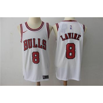 NBA Authentic Basketball Player Jerseys Chicago Bulls # 8 Zach LaVine White