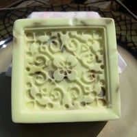 Rose Bliss, Avocado Cucumber Soap, with dried Rose Petals   blackwillowsoap - Bath & Beauty on ArtFire