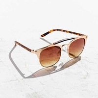 Tortoise Brow Bar Frame Sunglasses