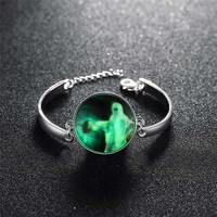 Hot Sale Stylish Great Deal New Arrival Gift Awesome Shiny Accessory Skull Terrible Noctilucent Bracelet [8065787713]