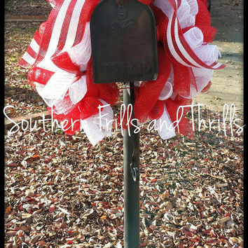 Mailbox Swag, Christmas Mailbox Swag, Mailbox Wreath, Christmas Decor, Mailbox Bow, Holiday Decor