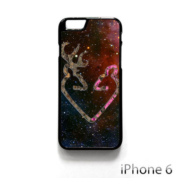 Browning Style Heart Buck Doe Deer Sticker Decal Duck Hunting for Iphone 4/4S Iphone 5/5S/5C Iphone 6/6S/6S Plus/6 Plus Phone case