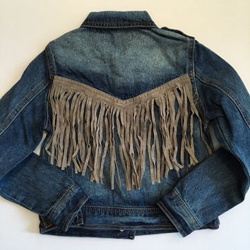 Play Six Fringe Denim Jacket