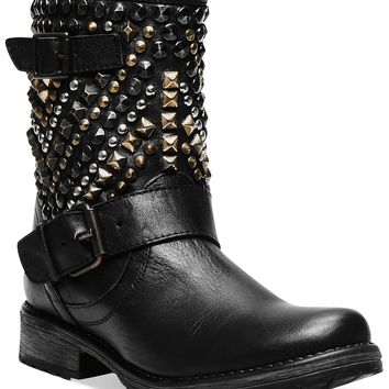Steve Madden Women's Boots, Marcoo Studded Booties - Boots - Shoes - Macy's