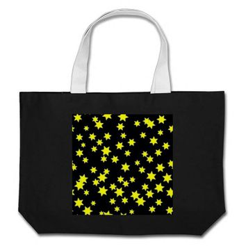 Yellow Stars Large Tote Bag