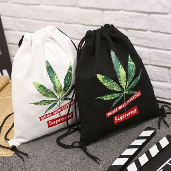 Leaves SUPREME Canvas Storage Bag Pouch