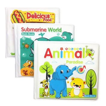 0-12 Months Books For Babies / Waterproof 4 Pages Learning