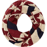 Red stars and stripes snood