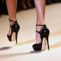 Elie Saab T-Bar High Heels