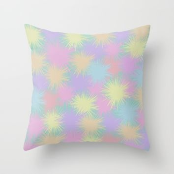 Colorful explosions Throw Pillow by Lena Photo Art | Society6