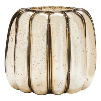 Smith & Hawken™ Glass Pumpkin Lantern 9.4x8.7""