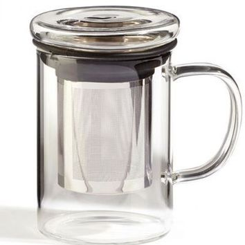 Glass Tea Infuser Mug - PRE-ORDER, SHIPS in AUGUST