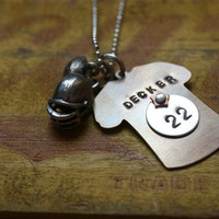 Football Mom/Girlfriend Jersey Sports Necklace
