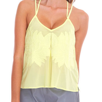 Ray Of Sunshine Tank Top - Lemon Yellow