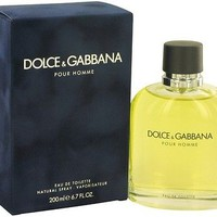 Dolce & Gabbana Cologne Men Perfume Eau De Toilette Spray New EDT 6.7 oz 200 ml