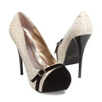 Qupid Women's Neutral-330 Platform High Heel Stiletto