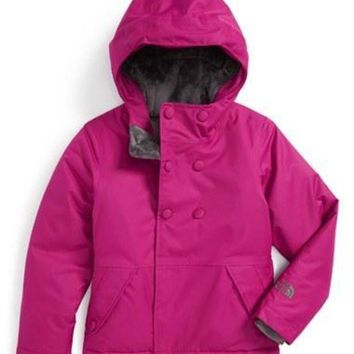 LMFON The North Face Girl's 'Harmonee' Waterproof Insulated Peacoat Jacket,