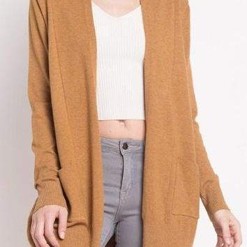 Ava Cardigan in Heather Mustard