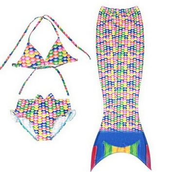 Fashion children girls swimwear bathing suits swimming costumes for girls mermaid outfits for kids