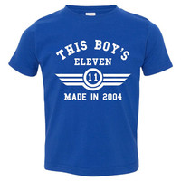 This Boy's ELEVEN Made in 2004 Customized Eleventh Birthday Youth T Shirt Happy Eleventh Birthday Fun Shirt for Boy's 11th Birthday Shirt