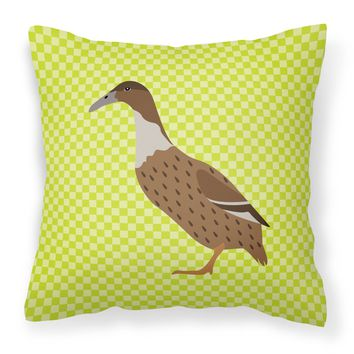 Dutch Hook Bill Duck Green Fabric Decorative Pillow BB7687PW1818