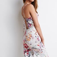 Abstract Print Halter Jumpsuit