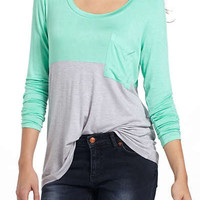 Anthropologie - Duo Colorblocked Top