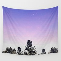 Starry Purple Sunset Wall Tapestry by laurenrfphoto